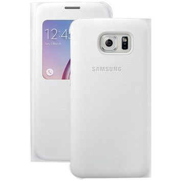 Samsung(R) 34-2886-05-XP S-View Flip Cover for Samsung(R) Galaxy S(R) 6 (White Pearl)
