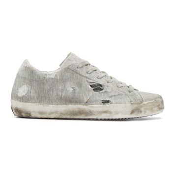 Grey Jersey Superstar Sneakers