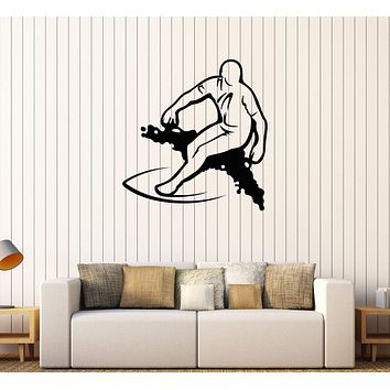 Vinyl Wall Decal Surfing Surfer Extreme Sports Stickers Unique Gift (610ig)