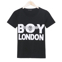 2016 new fashion t shirt women BOY LONDON printed t-shirt short sleeve cotton casual fitness plus size tees women woman tops