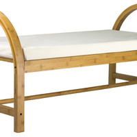 Bentwood Bamboo Bench for Two