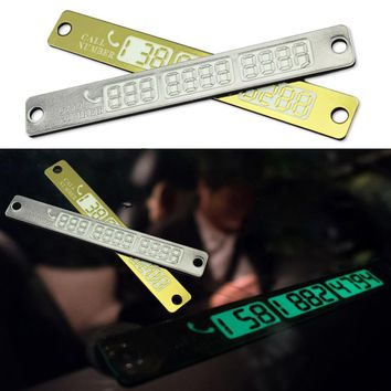 Temporary Car Parking Card Notification Night Light Sucker Plate Car Styling Phone Number Card for BMW E46 E30 E34 E36 M3 M5 M6