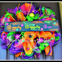 Bippity Boppity Boo Halloween Wreath, Halloween Wreath, Halloween, Wreath, Halloween Decoration, Halloween Decor, Spooky, Spooky Wreath