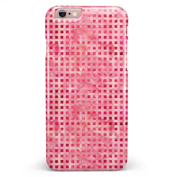 Pink and Red Watercolor Squares iPhone 6/6s or 6/6s Plus INK-Fuzed Case