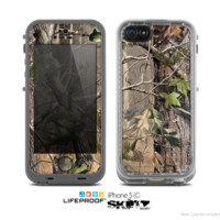 The Real Woods and Trees Camouflage Skin for the Apple iPhone 5c LifeProof Case