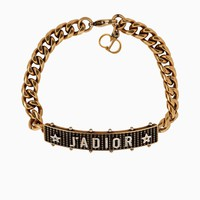 J'adior bracelet in gold-tone and palladium finish aged metal - Dior