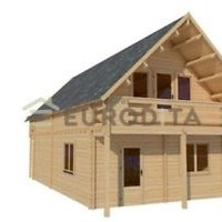 Eurodita 3 Bed Prefab House Log Cabin Pool House Guest House Garden House Kit