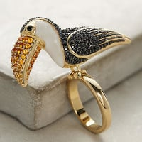 Toucan Cocktail Ring