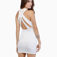 Strappy Backless Mini Bodycon Dress