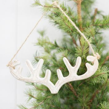 Wooden Antler Ornament