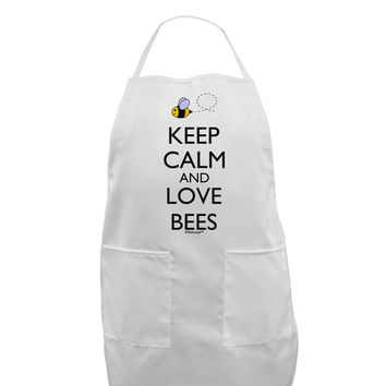 Keep Calm and Love Bees Color Adult Apron