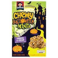Quaker® Limited Edition Cookies & Cream Chewy Halloween Minis - 15.2oz