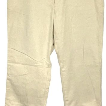 Gap Khakis Pants Slacks Cotton Faux Back Pockets Womens 6R 6 Regular 29 x 29 - Preowned