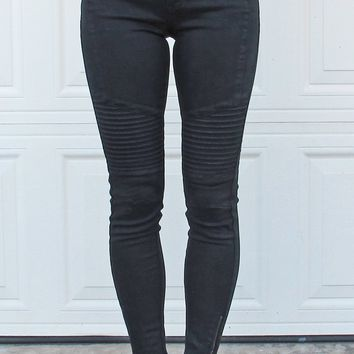 Moto Jeggings {Black}