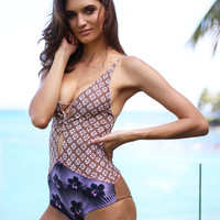 ACACIA Swimwear 2017 Kokomo One Piece in Block Print