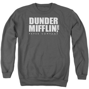 THE OFFICE/DUNDER MIFFLIN - ADULT CREWNECK SWEATSHIRT - CHARCOAL -