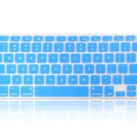 Silicone Keyboard Protector with Keys for Apple Macbook Air 13 Laptop (Blue)