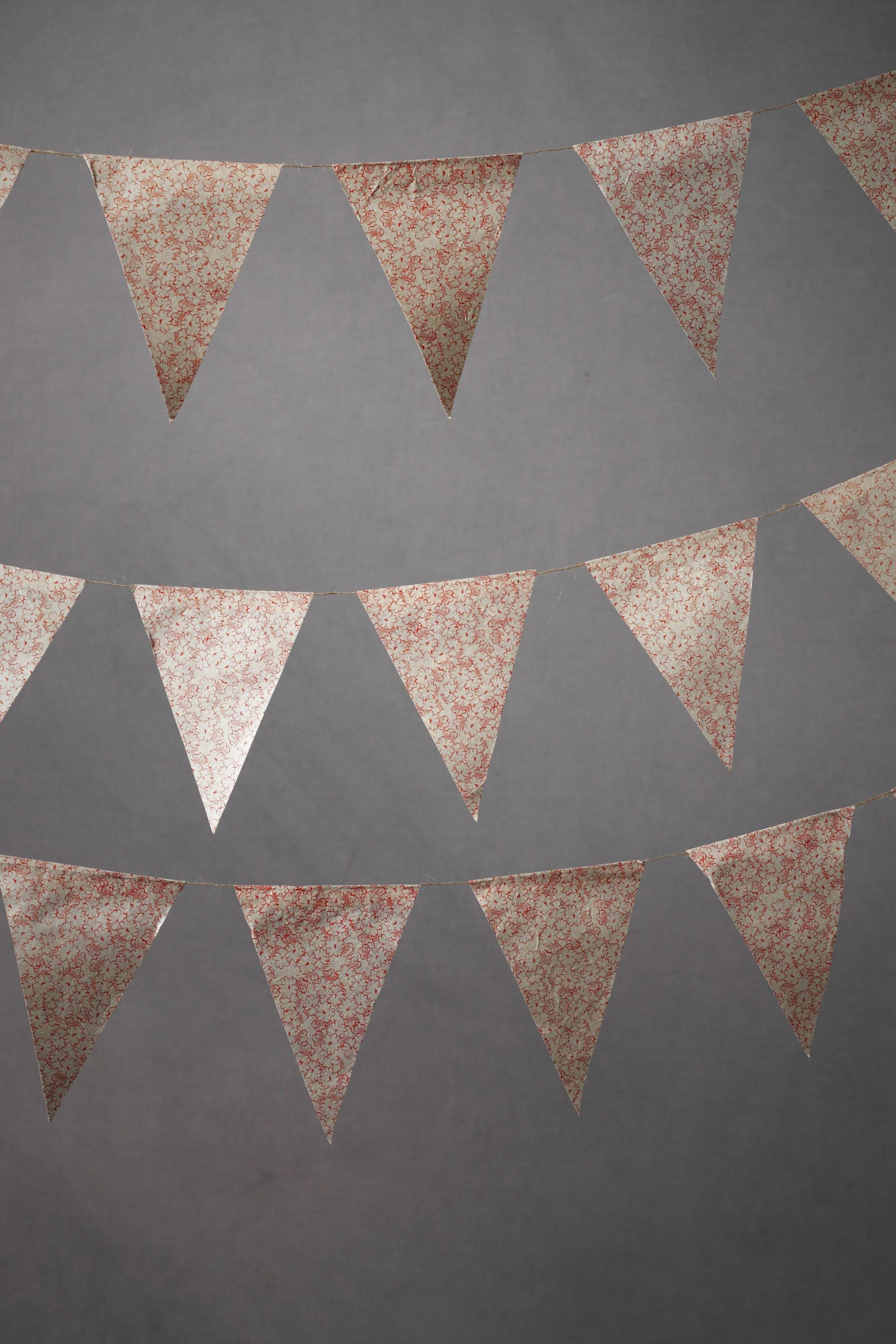 Spring Garden Pennant Garland in  the SHOP Decor Decorating at BHLDN