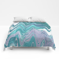 Ripple Waves Comforters by sm0w