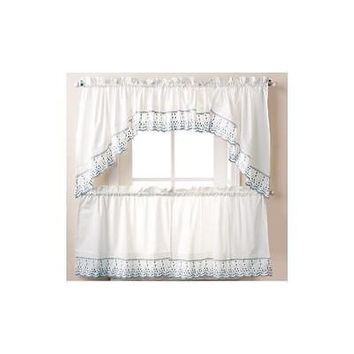 """Abby Kitchen Curtains, One Tailored Valance 60"""" X 14"""""""