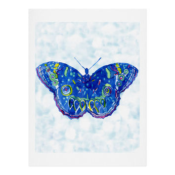 CayenaBlanca Watercolour Butterfly Art Print