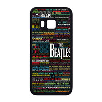 the beatles typography song lyric HTC One M9 Case