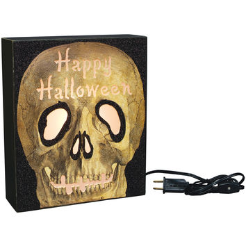 Happy Halloween Skull Light Box