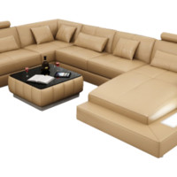 Rey Leather Sectional by Scene Furniture - Opulentitems.com