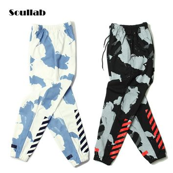 soullab 2017 autumn winter new men bottom jogger pants trousers sweat sweatpants hip hop Kanye west urban clothing swag hippie
