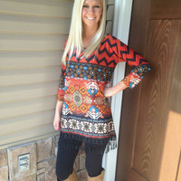 Chevron Tunic Top