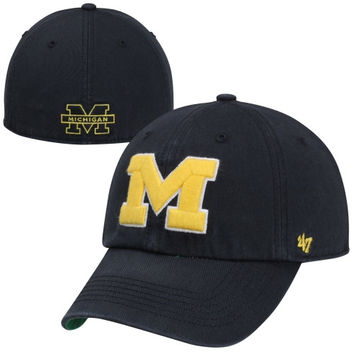 Michigan Wolverines Franchise Fitted Hat – Blue