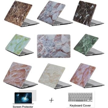 Marbling Cover Case For Apple Macbook 11 12 13 15 Air Pro with Retina Laptop Protector For Mac book 11.6 12 13.3 15.6 inch case