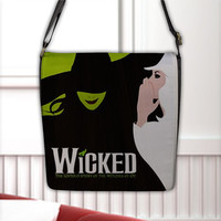 Wicked The Untold Story of The Witches of OZ Flap Closure Seal Cross Shoulder Messenger Bag