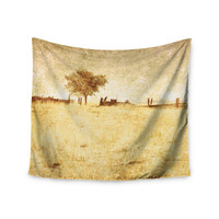 "Sylvia Coomes ""One Tree"" Brown Tan Wall Tapestry"