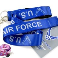 "Military Blue ""US Air Force"" Lanyard & Free Lanyard"