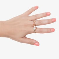Side Pearl Open Ring