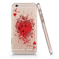 The Ace of Heart Transparent Plastic Phone Case for Iphone 6