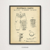Football Pants Patent Print, Digital Download, Football Play Room Decor, Boys Room Gallery Wall, Football Sports Gift, NFL Superbowl Artwork