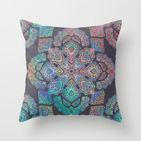 Boho Intense Throw Pillow by Micklyn