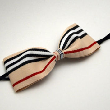 Burberry Inspired Headband - Hair Bands Hair Bows Infants Toddlers Girls Adults