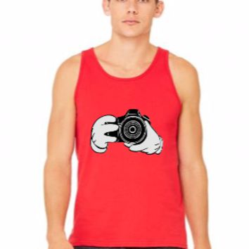 mickey hands with camera shot - tank top