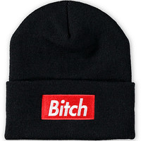 Married To The Mob Bitch In A Box Black Beanie