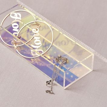 Iridescent Acrylic Jewelry Box   Urban Outfitters