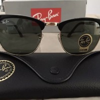 RayBan Ray-Ban ClubMaster Black Frame G-15 Lens RB 3016 W0365 51MM NEW