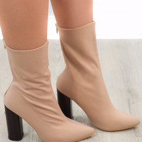 If I Want To Coco Nude Booties