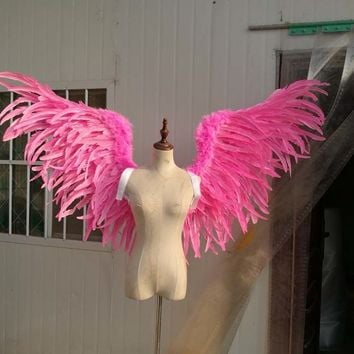 Beautiful Pink Angel Fairy Wings Props Cosplay Costume