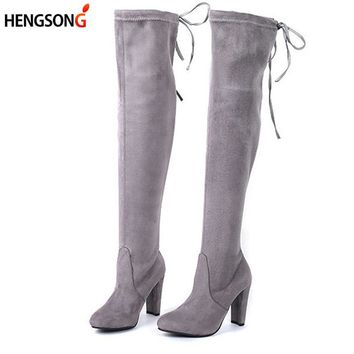 Swag Pack Thigh High Lace Up Boots