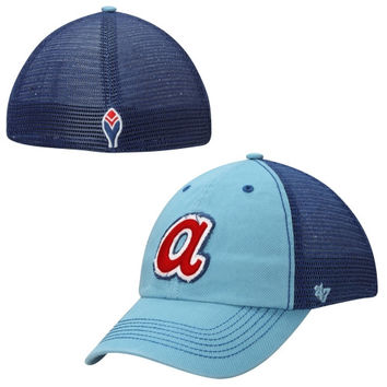 Atlanta Braves '47 Brand Taylor Cooperstown Collection Closer Flex Hat – Royal Blue/Light Blue