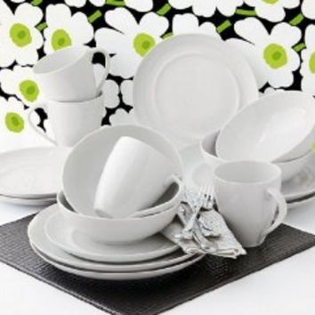 Over & Back Oporto 16 pc Porcelain Dinnerware Set