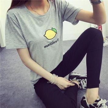 ONETOW Day-First? Lemon Printed T Shirt